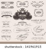 calligraphic design elements...   Shutterstock .eps vector #141961915