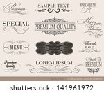 calligraphic design elements... | Shutterstock .eps vector #141961972