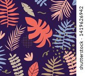 tropical jungle leaves and... | Shutterstock .eps vector #1419626942