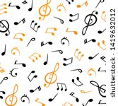 music notes  group musical... | Shutterstock .eps vector #1419632012