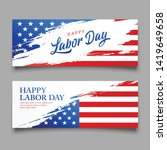 happy labor day flag of usa... | Shutterstock .eps vector #1419649658
