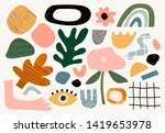 set of hand drawn various... | Shutterstock .eps vector #1419653978