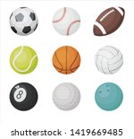 cartoon balls vector set. sport ...