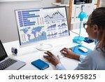 close up of a businesswoman's...   Shutterstock . vector #1419695825