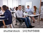 portrait of a disabled...   Shutterstock . vector #1419695888
