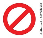 not allowed icon. flat... | Shutterstock .eps vector #1419707528