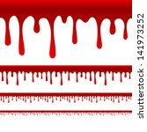 blood or paint drips vector  ... | Shutterstock .eps vector #141973252