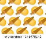 dough rolling seamless vector... | Shutterstock .eps vector #141975142