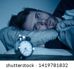 sleepless and desperate young... | Shutterstock . vector #1419781832