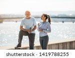 fit senior man in good shape... | Shutterstock . vector #1419788255