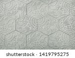 old grey stone pavement... | Shutterstock . vector #1419795275