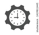 gear wheel clock vector icon... | Shutterstock .eps vector #1419811445