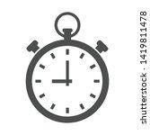 pocket watch vector icon... | Shutterstock .eps vector #1419811478