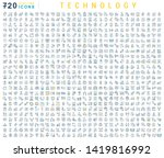 set of vector line icons of...   Shutterstock .eps vector #1419816992