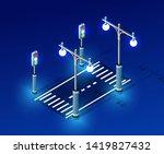 isometric night light lighting... | Shutterstock .eps vector #1419827432