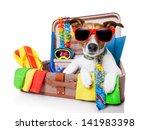 Summer Vacation Dog In Bag Full ...