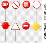stop signs and traffic sign... | Shutterstock .eps vector #1419847328