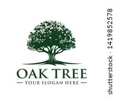 oak tree logo template vector   Shutterstock .eps vector #1419852578