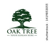 oak tree logo template vector | Shutterstock .eps vector #1419853055