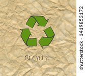 recycle poster design with... | Shutterstock .eps vector #1419853172