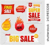 sale banners big sale isolated... | Shutterstock . vector #1419853208