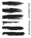 grunge background. set of black ... | Shutterstock .eps vector #1419857765
