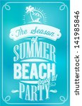beautiful seaside view poster.... | Shutterstock .eps vector #141985846