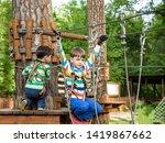 two little boy boys kid in a... | Shutterstock . vector #1419867662