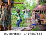 two little boys playing... | Shutterstock . vector #1419867665