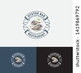ouster bar logo. seafood... | Shutterstock .eps vector #1419869792