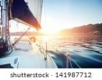 sailing yacht boat on on ocean... | Shutterstock . vector #141987712