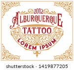 tattoo logo template with...   Shutterstock .eps vector #1419877205