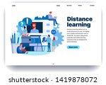 web page flat design template...   Shutterstock .eps vector #1419878072