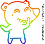 rainbow gradient line drawing... | Shutterstock .eps vector #1419879452