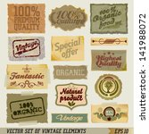 vintage design label elements.... | Shutterstock .eps vector #141988072