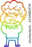 rainbow gradient line drawing... | Shutterstock .eps vector #1419883478