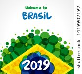 2019 welcome to brazil green... | Shutterstock .eps vector #1419902192