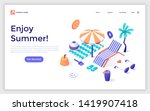 landing page template with... | Shutterstock .eps vector #1419907418