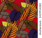 hand drawn seamless pattern...   Shutterstock .eps vector #1419914282