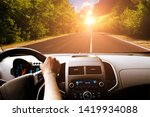 Car Dashboard With Driver\'s...
