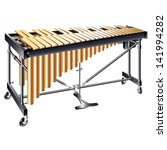 Musical background series. Classical vibraphone, isolated on white background