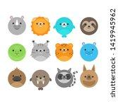 cute vector icon set of random... | Shutterstock .eps vector #1419945962