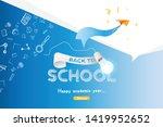welcome back to school.... | Shutterstock .eps vector #1419952652