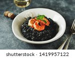 delicious italian risotto with... | Shutterstock . vector #1419957122