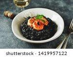 delicious italian risotto with... | Shutterstock . vector #1419957122