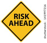 yellow road sign as a warning...   Shutterstock .eps vector #141997216