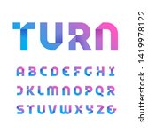 paper font. vector alphabet... | Shutterstock .eps vector #1419978122
