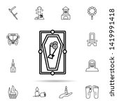 funeral  coffin icon. universal ...   Shutterstock .eps vector #1419991418