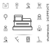 funeral  coffin icon. universal ...   Shutterstock .eps vector #1419991475