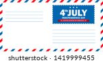 4th of july independence day... | Shutterstock .eps vector #1419999455